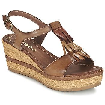 Chaussures Femme Sandales et Nu-pieds Samoa DREDU Marron
