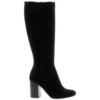Chaussures Femme Bottes ville Reqin's Bottes cuir velours Noir