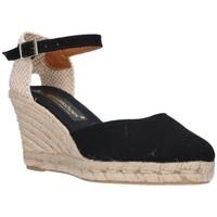 Chaussures Femme Espadrilles Fernandez Six cent quatre-vingt-deux noir