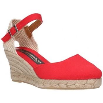 Chaussures Femme Espadrilles Fernandez Six cent quatre-vingt-deux rouge