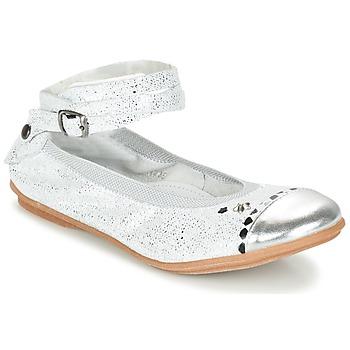 Chaussures Fille Ballerines / babies Ikks EMILY Argenté