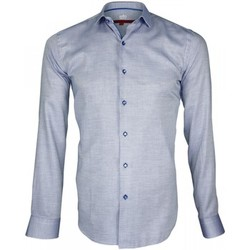 Chemises manches longues Andrew Mc Allister chemise tissu armure hasting bleu