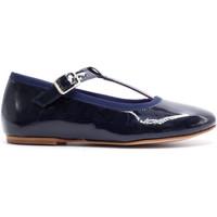 Chaussures Fille Ballerines / babies Boni Classic Shoes Salome en cuir vernis à boucles - AURORE Bleu Marine
