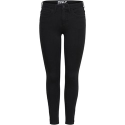 Vêtements Femme Jeans slim Only KENDELL ETERNAL noir