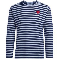 Vêtements Homme T-shirts manches longues Comme Des Garcons T-Shirt homme  à lignes Bleu