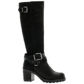 Chaussures Femme Bottes ville Pao Bottes cuir nubuck Noir