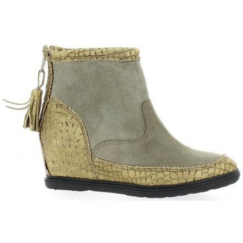 Bottines / Boots Minka Boots cuir laminé Taupe 350x350