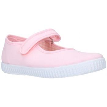 Chaussures Fille Ballerines / babies V-n Mercedita Toile rose