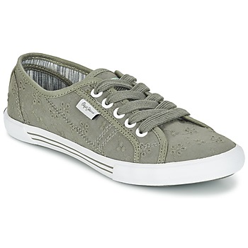Chaussures Femme Baskets basses Pepe jeans ABERLADY ANGLAISE Gris