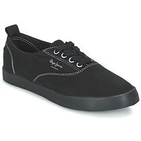 Chaussures Femme Baskets basses Pepe jeans JULIA MONOCROME Noir