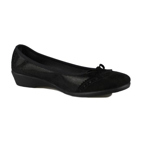 Vulladi SERRAJE LETINA BLACK - Chaussures Ballerines Femme