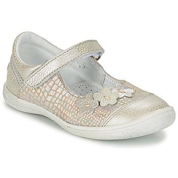 Chaussures Fille Ballerines / babies GBB PRATIMA Gris / Argenté
