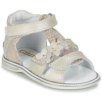 Chaussures Fille Sandales et Nu-pieds GBB PING Gris/argent