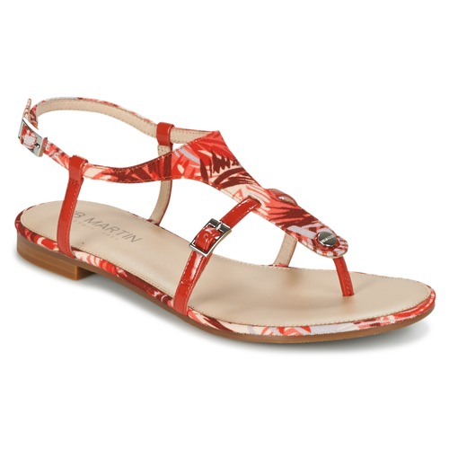 Chaussures Femme Sandales et Nu-pieds JB Martin GAELIA Rouge / Tropical