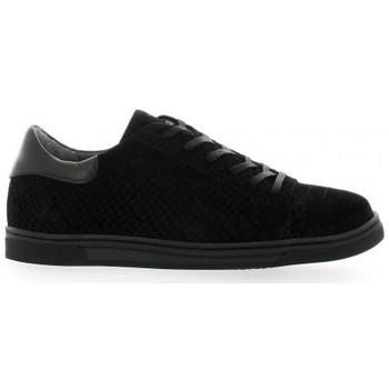 Chaussures Femme Baskets basses Ambiance Baskets cuir python Noir