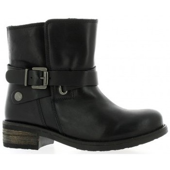 Chaussures Femme Bottines We Do Boots cuir Noir