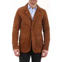 Vêtements Homme Vestes en cuir / synthétiques Milpau Nabor Cognac Cognac