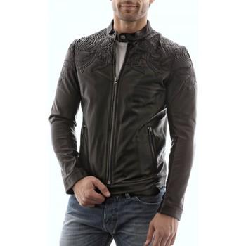 Vêtements Homme Vestes en cuir / synthétiques Giorgio Phoenix Noir Noir