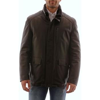 Vêtements Homme Vestes en cuir / synthétiques Intuitions Paris AH 20-1151 Marron Marron