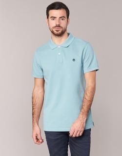 Vêtements Homme Polos manches courtes Timberland SS MILLERS RIVER PIQUE REG POLO Bleu clair