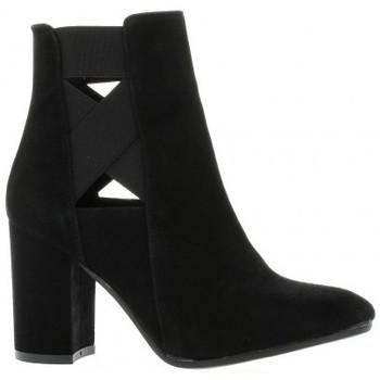 Chaussures Femme Bottines Nuova Riviera Boots cuir velours Noir