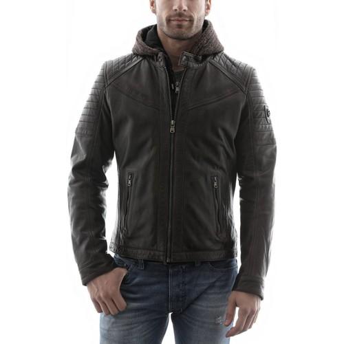 Vêtements Homme Vestes en cuir / synthétiques Redskins Morisson Marron (capuche) Marron