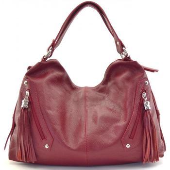 Sacs Femme Cabas / Sacs shopping Oh My Bag Sac à main cuir femme - Modèle Arizona rouge foncé ROUGE FONCE
