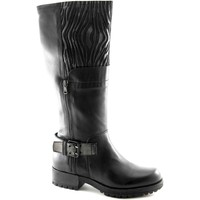 Chaussures Femme Bottes ville Café Noir CAF-GH131-NE Nero