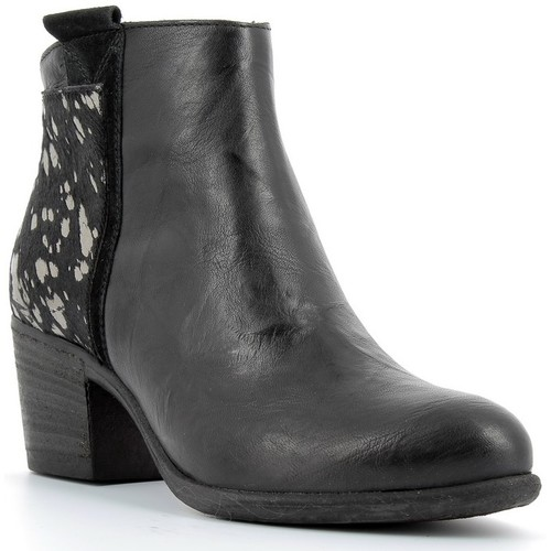 Bottines / Boots Khrio Bottines en cuir femmes  - 7705 Noir 350x350
