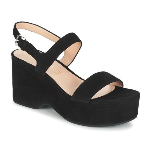 Marc Jacobs LILLYS WEDGE Noir - Livraison Gratuite avec  - Chaussures Sandale Femme