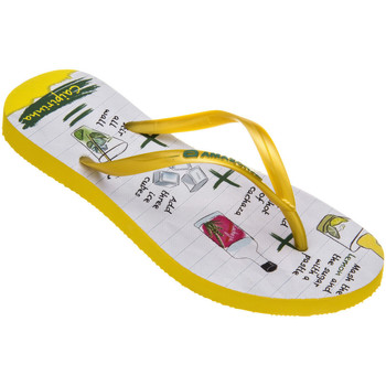 Tongs Amazonas Tongs femme  Enjoy Flip Flop Caipirinha Jaune et Blanc
