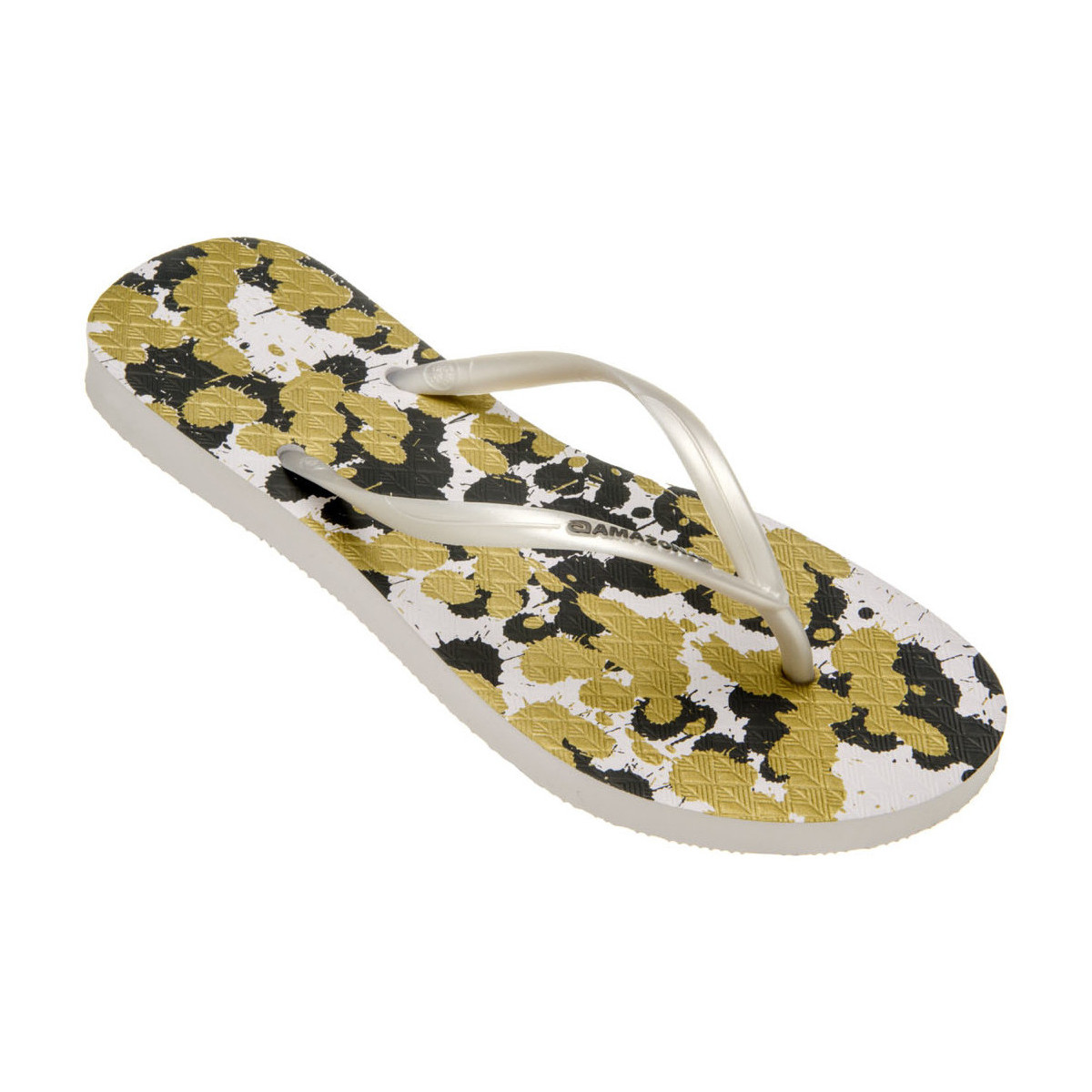 Amazonas Tongs femme  Enjoy Flip Flop Splash Blanc et Kaki BLANC