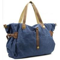 Sacs Femme Sacs porté épaule Oh My Bag Sac wek-end femme CUIR et TOILE - Modèle FIDJI bleu jeans BLEU JEANS