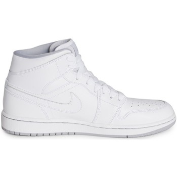Chaussures Homme Baskets montantes Nike Air Jordan 1 Mid Blanc