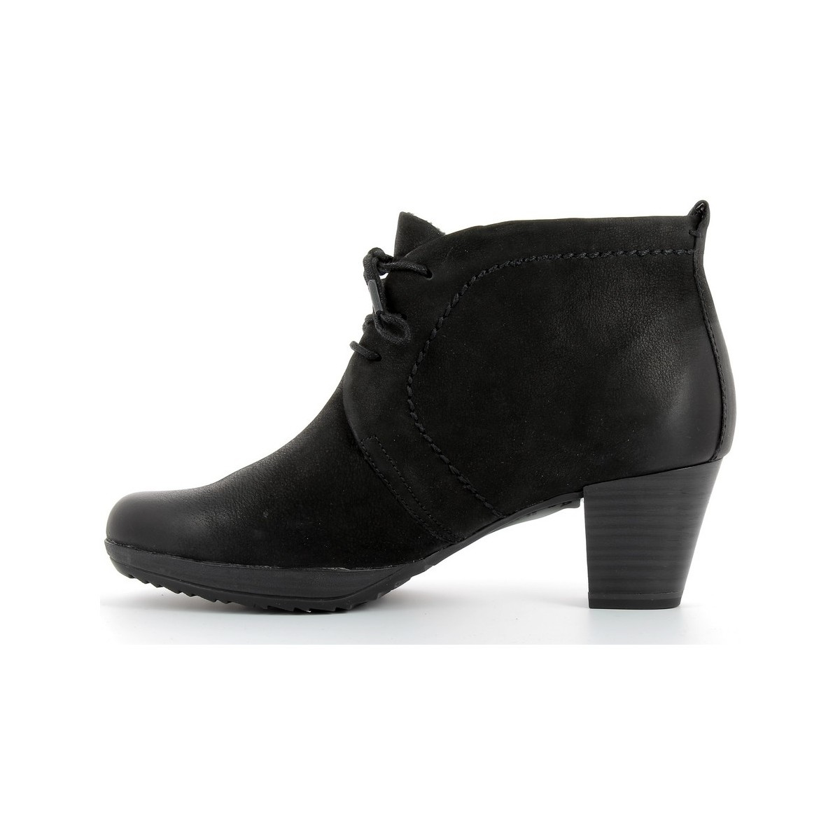 Marco Tozzi Bottines en cuir femmes  - 25106-27 Black antic
