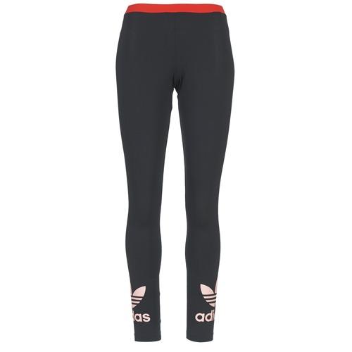 Vêtements Femme Leggings adidas Originals TREFOIL LEGGING Noir / Rose