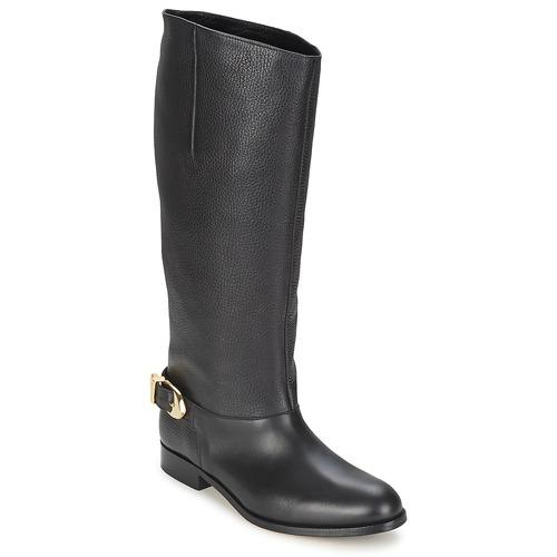 Chaussures Femme Bottes ville Moschino Cheap & CHIC BUCKLE Noir