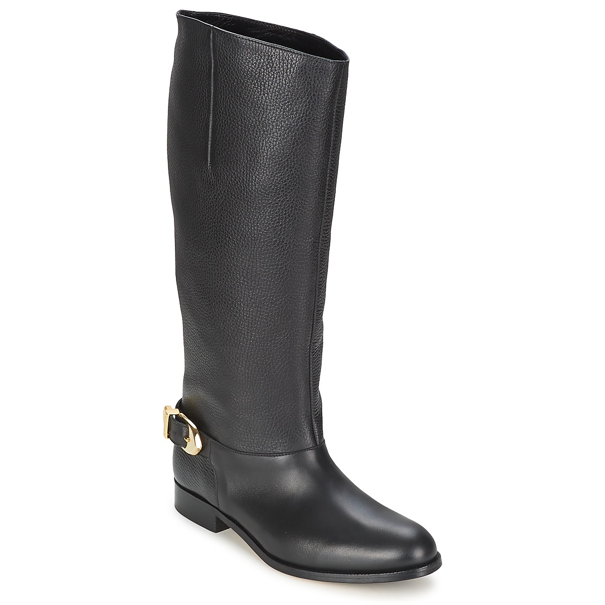 Botte ville Moschino Cheap & CHIC BUCKLE Noir
