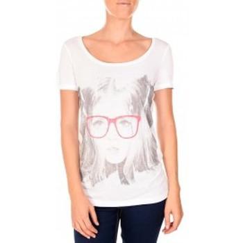 Vêtements Femme T-shirts manches courtes Vero Moda AMANDA GLASSES SS TOP blanc/rose Rose