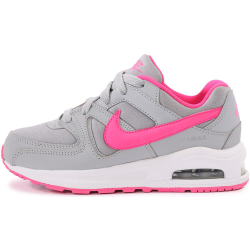 Chaussures-de-running Nike Air Max CommandEnfant Gris/Rose 350x350
