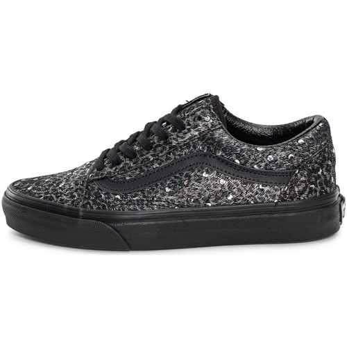 Baskets mode Vans Old Skool Metallic Leopard Gris/Noir 350x350
