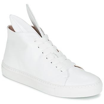Chaussures Femme Baskets montantes Minna Parikka BUNNY SNEAKS Blanc