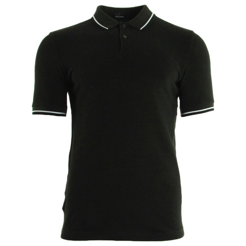 Vêtements Homme Polos manches courtes Fred Perry Slim Fit Tipped Shirt Hunt Green noir