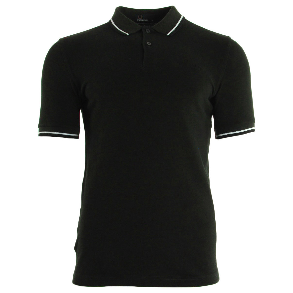 Fred Perry Slim Fit Tipped Shirt Hunt Green noir