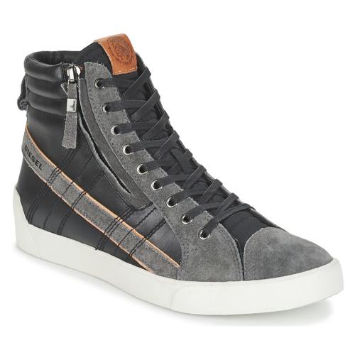 Chaussures Homme Baskets montantes Diesel D-STRING PLUS Noir / Gris