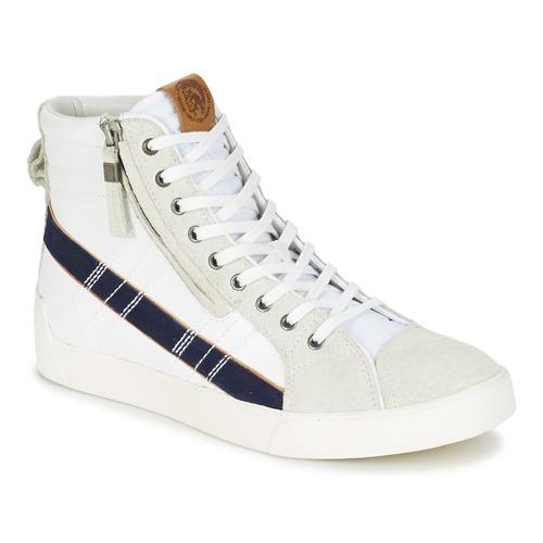 Chaussures Homme Baskets montantes Diesel D-STRING PLUS Blanc / Bleu