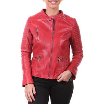 Vêtements Femme Vestes en cuir / synthétiques Intuitions Paris AF 70-1212 P Rouge Rouge