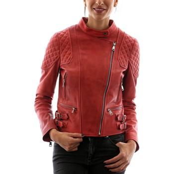Vêtements Femme Vestes en cuir / synthétiques Intuitions Paris AF 70-1536 Rouge Rouge