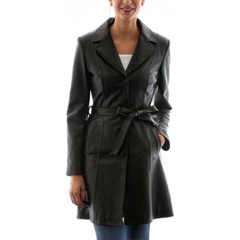 Vêtements Femme Vestes en cuir / synthétiques Intuitions Paris AF 806 Noir Noir