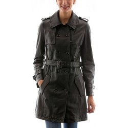 Vêtements Femme Vestes en cuir / synthétiques Intuitions Paris AF 20-1109 Noir Noir